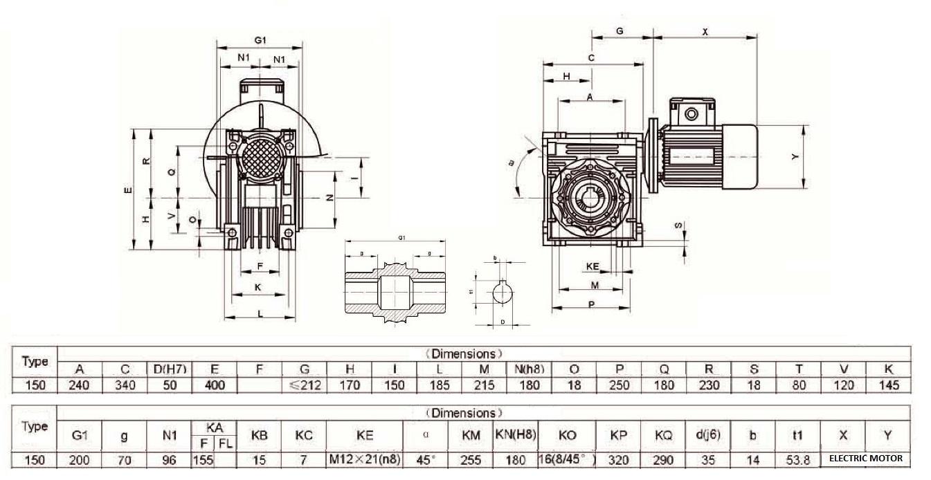 Przekładnia ślimakowa typu MNRV 150